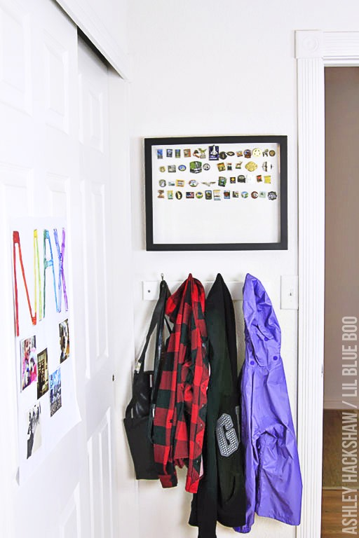 How to store mementos and pins from a trip - shadowbox ideas