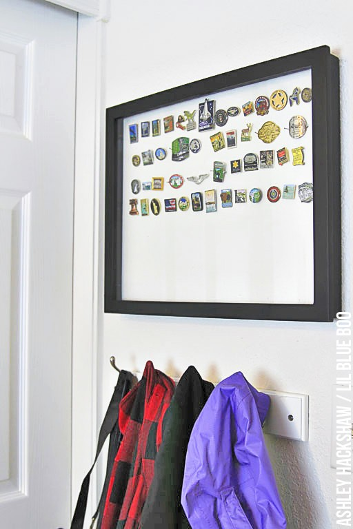 Storing awards and mementos - organization for kids room