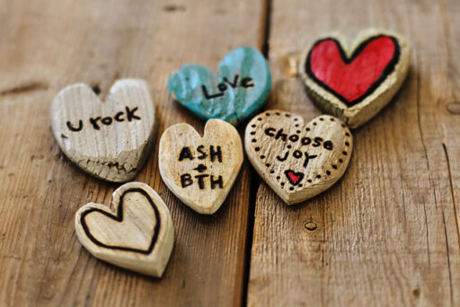 DIY Handmade Valentines Day Gift Ideas - wood driftwood hearts