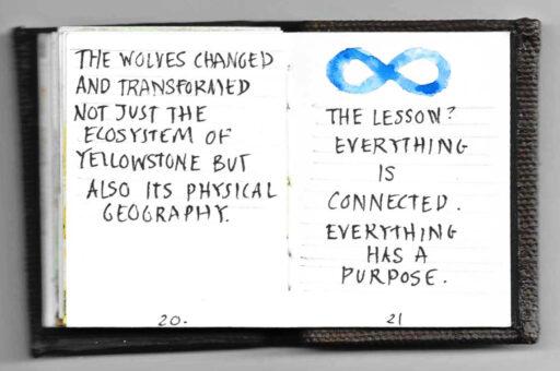 modern handwritten book