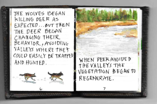 The Tiny Book of Tiny Stories - microscopic painting of animals and wolves