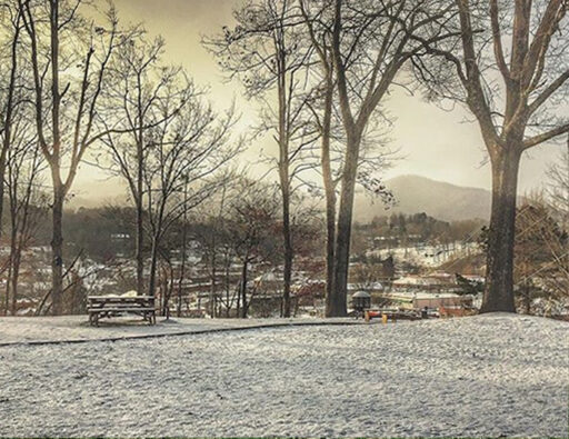 Snow on the Hill Bryson City