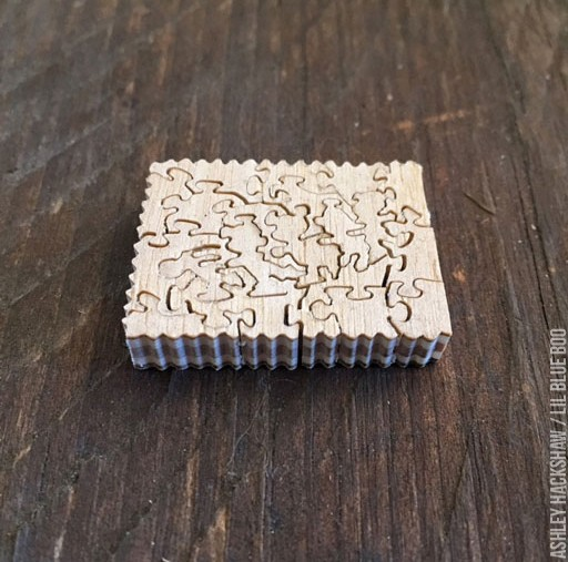miniature dollhouse furniture, doll sized puzzle