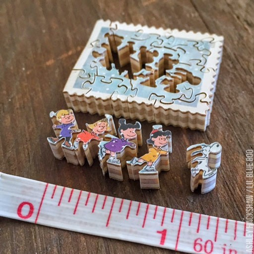 small wood carving projects - miniature postage stamp puzzles