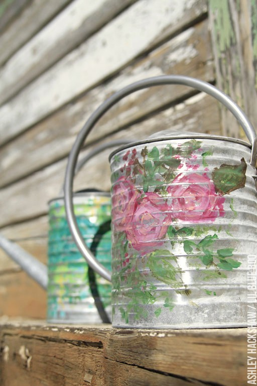 decorative watering cans for centerpieces - spring table decor and wedding decor