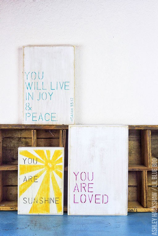 DIY Stenciled Inspirational Quote