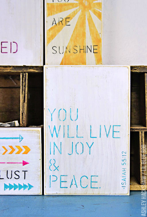 DIY Stenciled Inspirational Quote Paintings