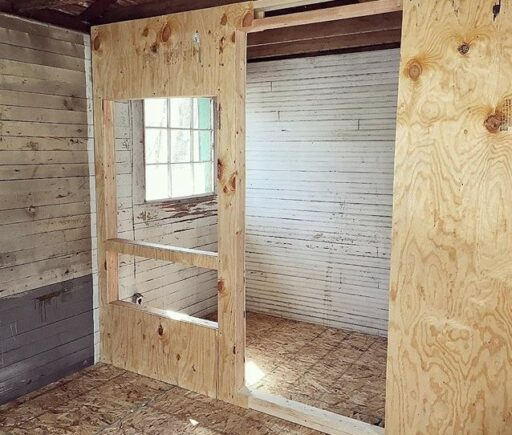 Converting a shed to a chicken coop