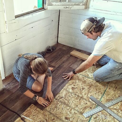 Chicken Coop Vinyl Floor