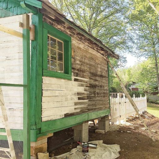 Chicken Coop Potting Shed Progress - the old depot