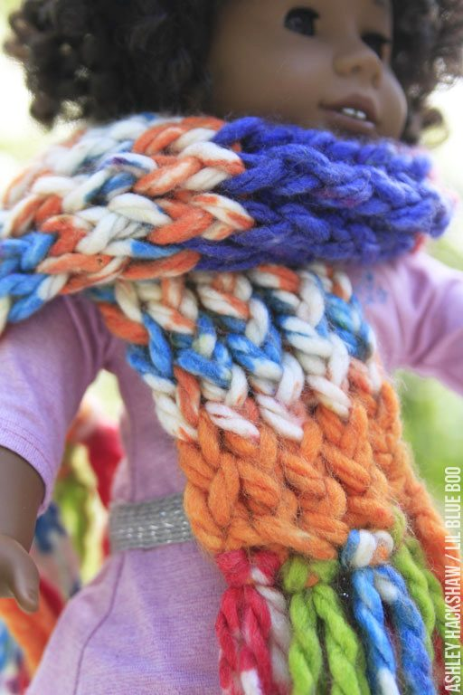 Handmade American Girl gift ideas - Teaching kids to knit