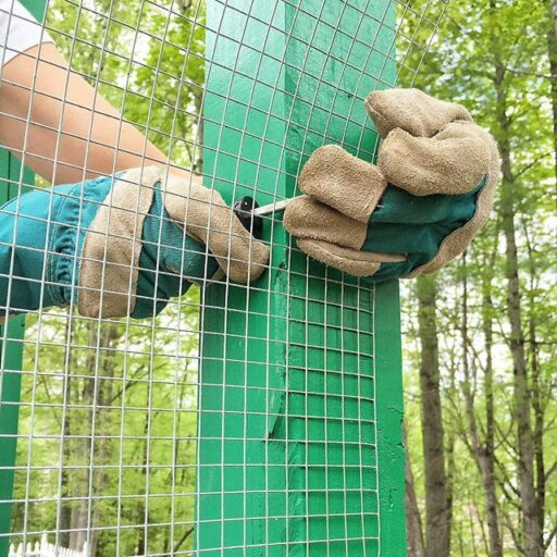 How to attach hardware cloth to a chicken coop