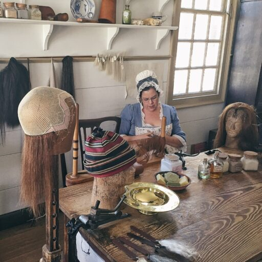 Wigmaker at Colonial Williamsburg