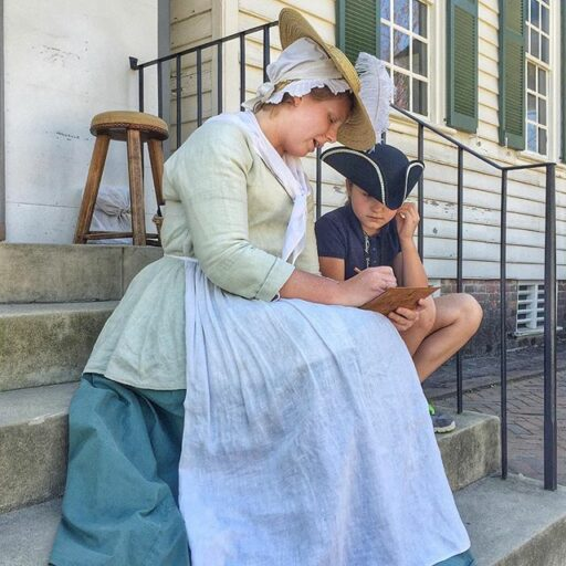In Character at the Wigmaker at Colonial Williamsburg - Pig Pen Cipher