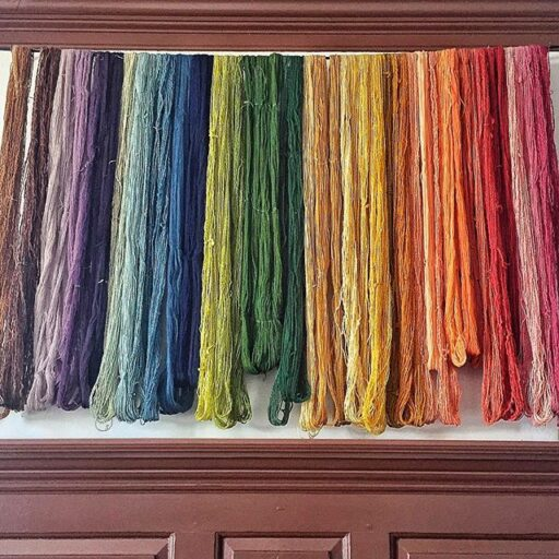 Hand Dyed Wool Yard at the Weaving Shop Colonial Williamsburg
