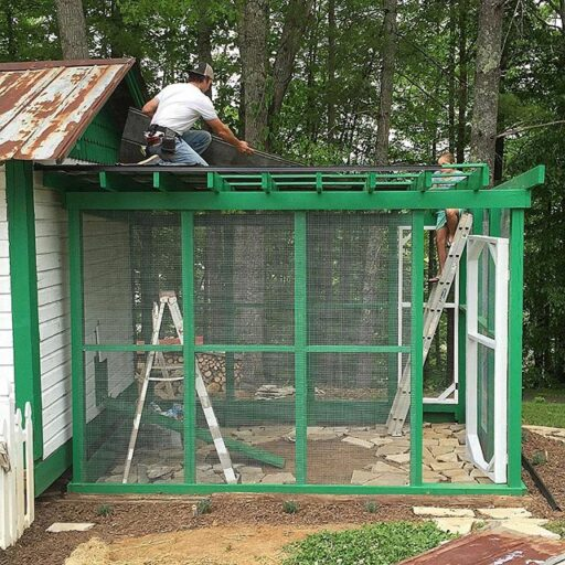 Chicken run and chicken coop progress