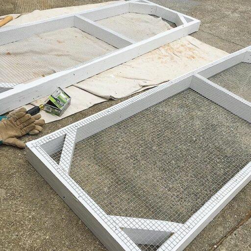 Chicken Coop doors with hardware cloth - chicken wire vs. hardware cloth