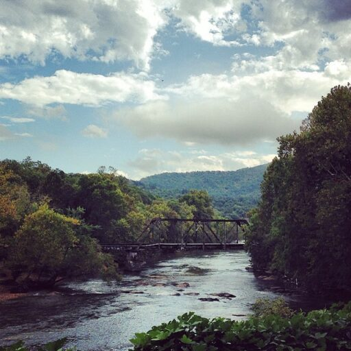 quotes about rivers and life - Tuckasegee River Bryson City Train Trestle