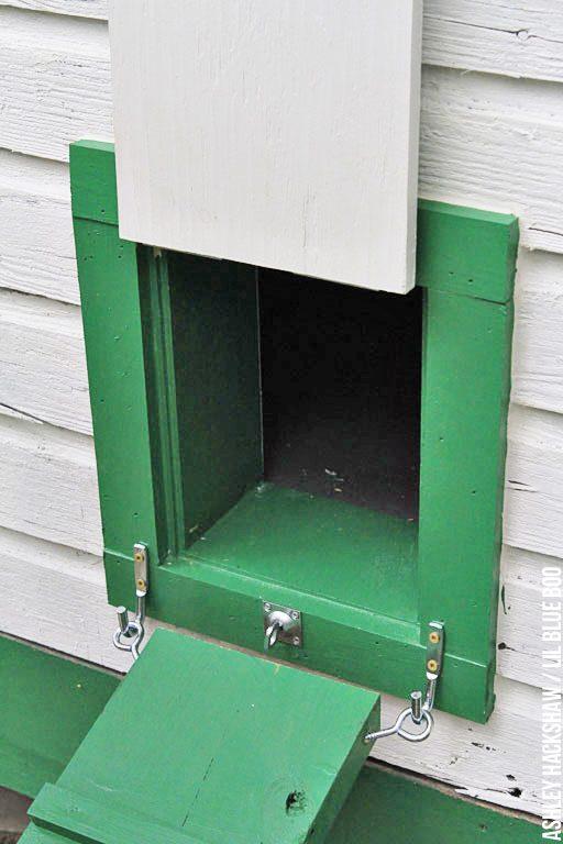 Building a chicken coop door and Attaching a ramp to the chicken coop door