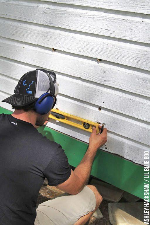 Cutting a chicken coop door