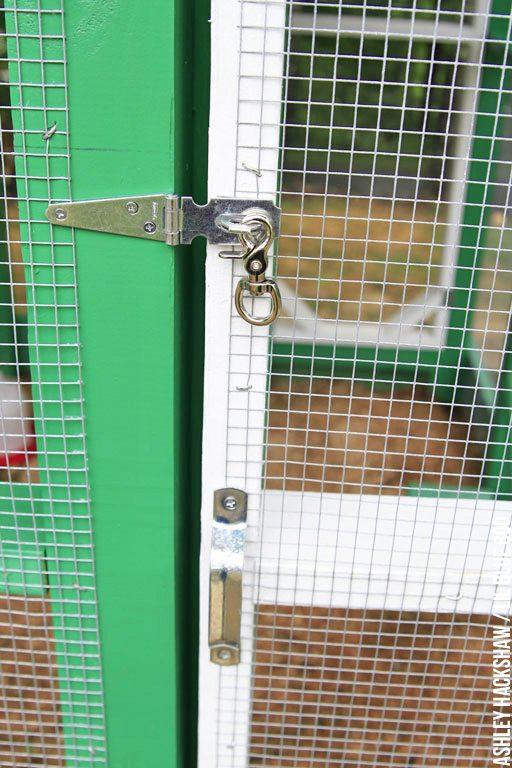 Chicken Run door security - latch and lock