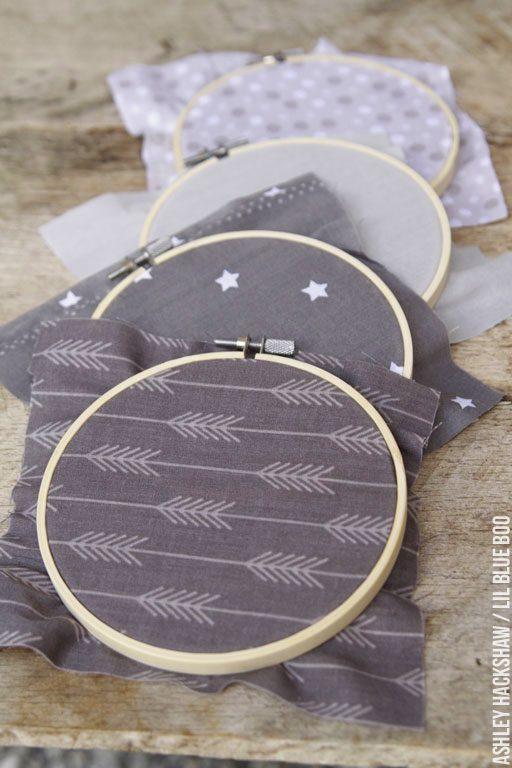 Embroidery hoop wall hanging - DIY