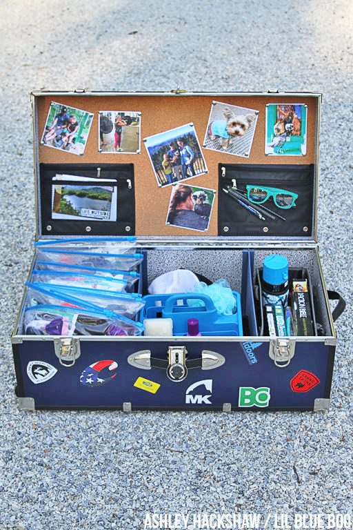 summer camp trunk decorating ideas