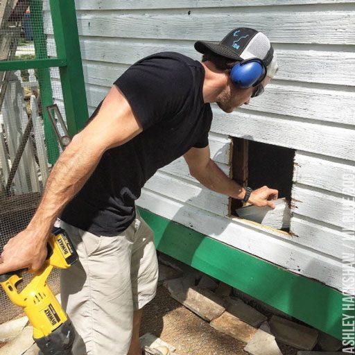 Building a chicken coop door