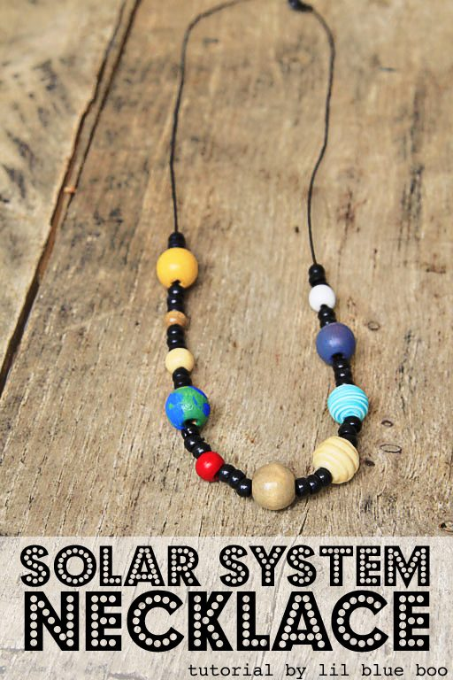 Solar System Necklace - Space and Planet Craft - a fun summer craft