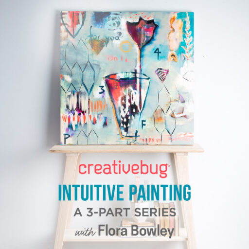 Intuitive Painting by Flora Bowley