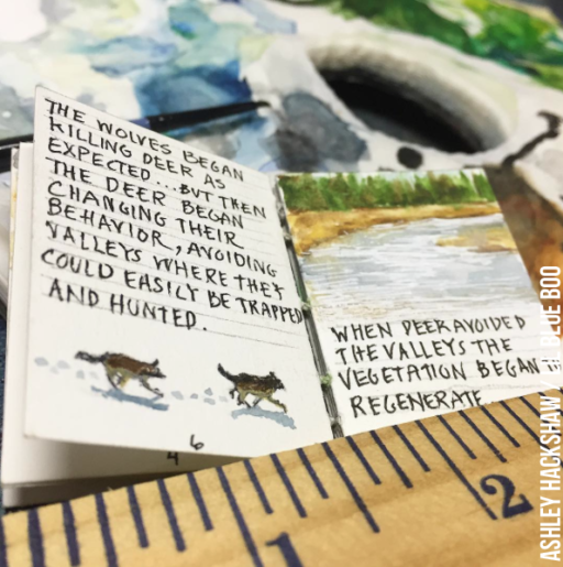 Tiny Handpainted Book