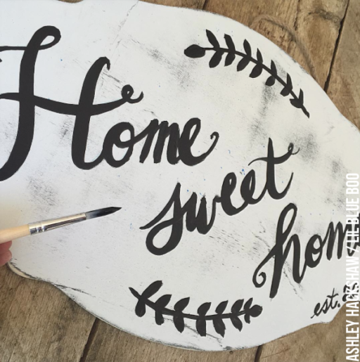 home Sweet Home Calligraphy