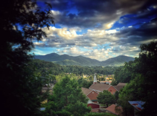 Smoky Mountain Sunsets - Bryson City from Hospital Hill