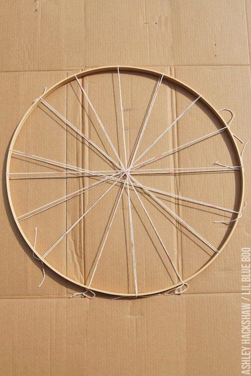 Embroidery hoop loom - how to make a circle loom