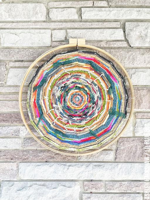 Yarn And Wood Wall Hanging