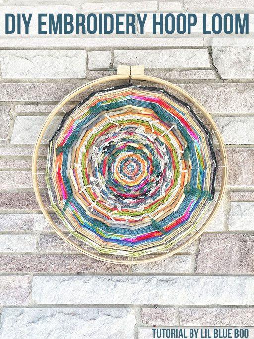 Embroidery Hoop Loom Weaving
