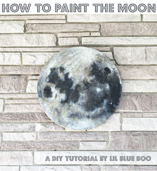 Paint a Full Moon - DIY Round Moon Painting - Step by step on How to Paint the Moon for nursery decor and space themed rooms