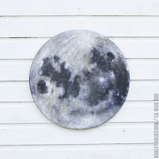 moon painting tutorial - Full Moon Painting on Wood