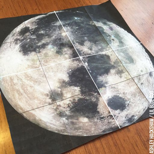 Using a Grid to paint a realistic moon