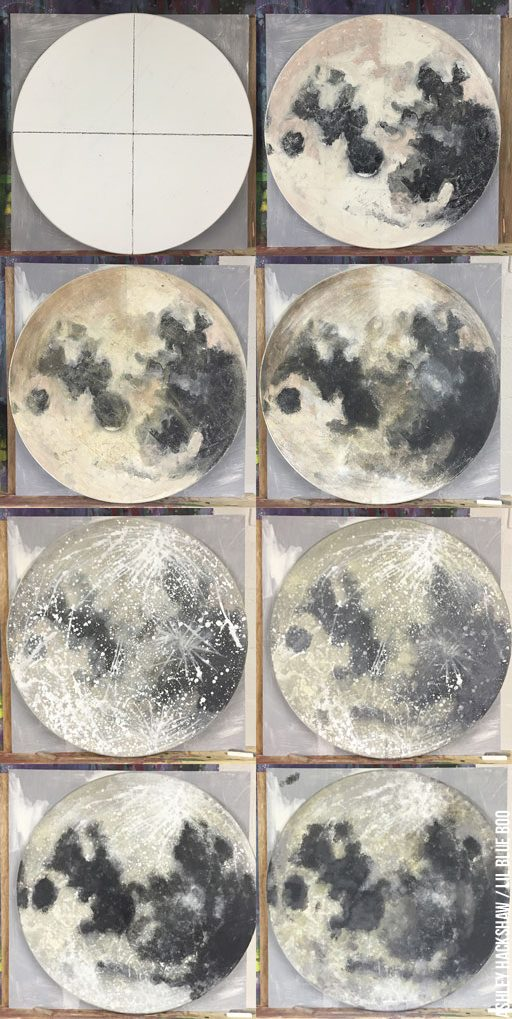 Moon painting tutorial - Acrylic Paint