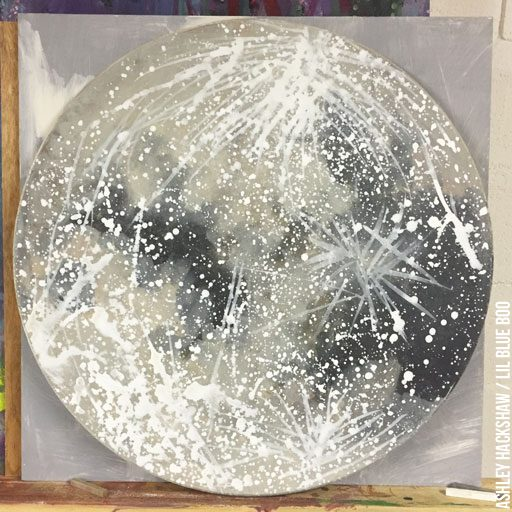 How to paint craters on moon