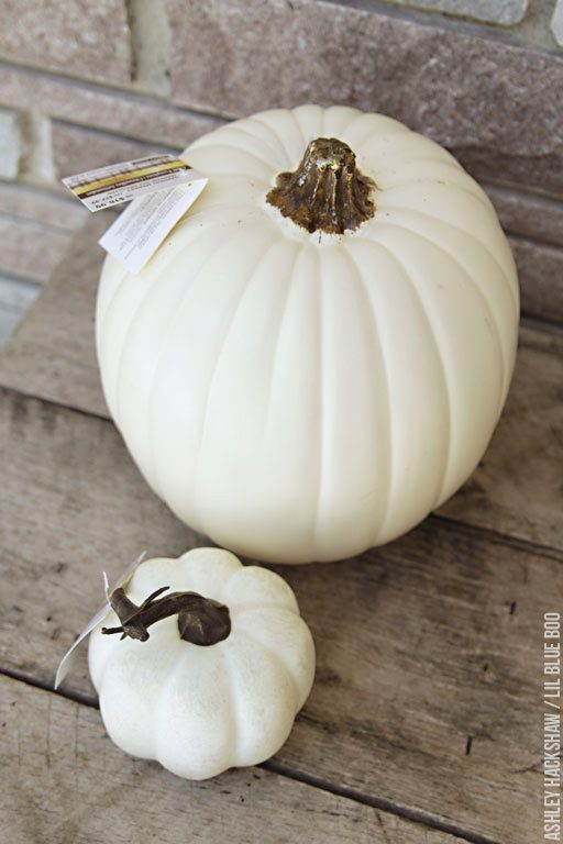 Cream Colored Pumpkins from Michaels