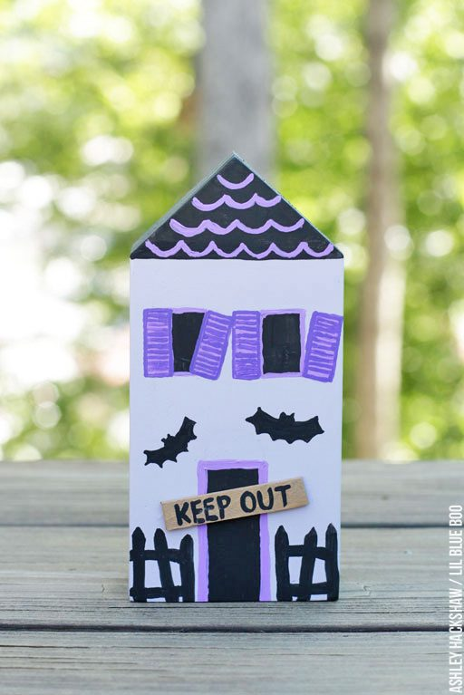 DIY Halloween Mini Ghost Town tutorial