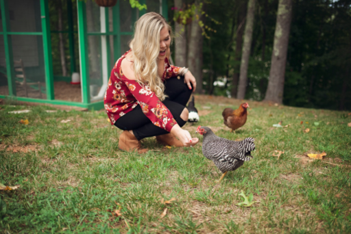 A Humanite Photo Shoot with the Chickens