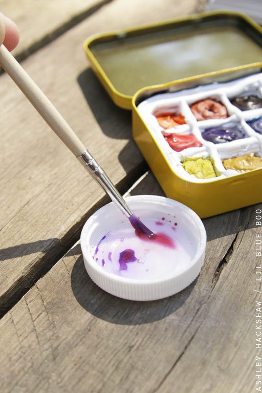 How to mix paints on the go