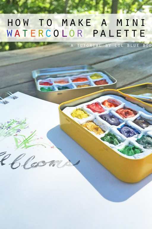 DIY Portable Watercolor Palette - How to make a DIY Portable Watercolor Palette to carry with you - made from small altoid type tins