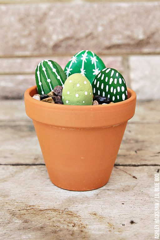 How to make faux rock cactus plants