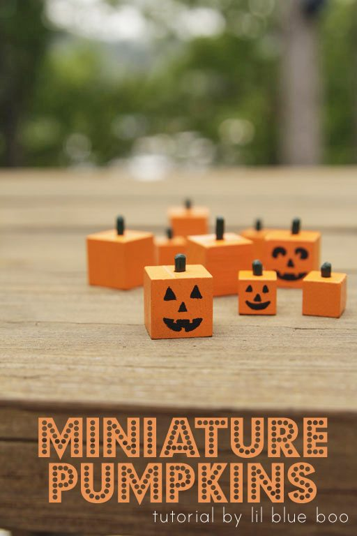 How to make square pumpkin craft