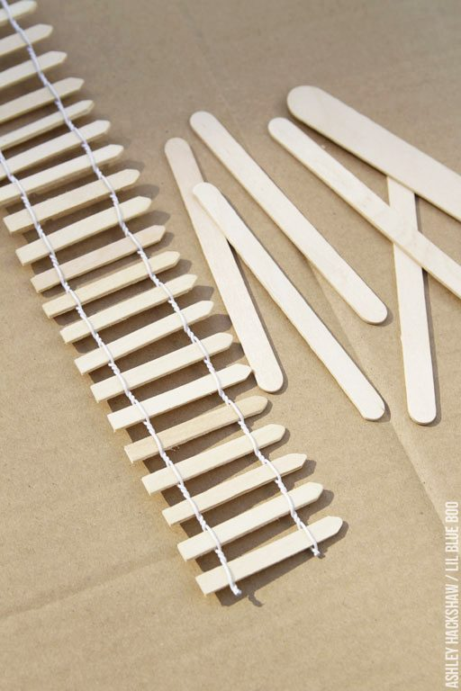 dollhouse picket fence and popsicle stick project