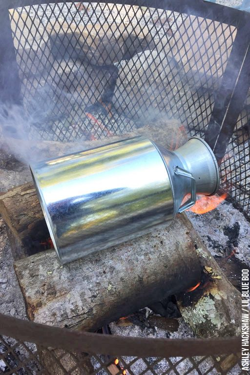 How to age Vintage Rustic Galvanized Handled Metal Milk